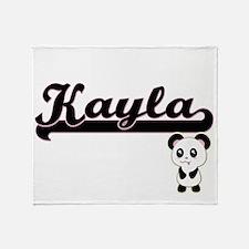 Kayla Classic Retro Name Design with Throw Blanket