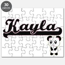Kayla Classic Retro Name Design with Panda Puzzle