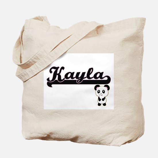 Kayla Classic Retro Name Design with Pand Tote Bag