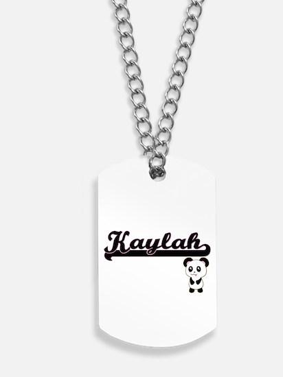 Kaylah Classic Retro Name Design with Pan Dog Tags