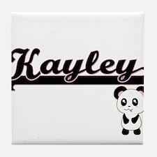 Kayley Classic Retro Name Design with Tile Coaster