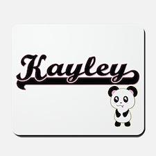 Kayley Classic Retro Name Design with Pa Mousepad