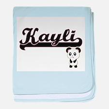 Kayli Classic Retro Name Design with baby blanket