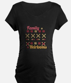 Family Heirlooms Maternity T-Shirt