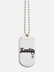 Kaylin Classic Retro Name Design with Pan Dog Tags