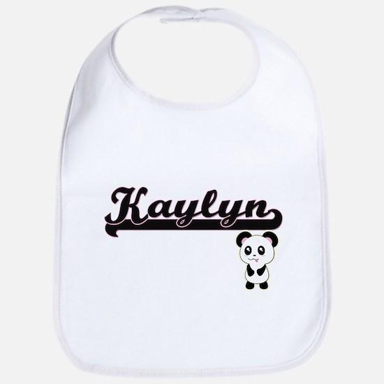 Kaylyn Classic Retro Name Design with Panda Bib