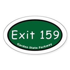 Exit 159 - I-80 - Paterson / Oval Decal