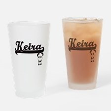 Keira Classic Retro Name Design wit Drinking Glass