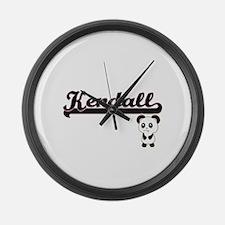 Kendall Classic Retro Name Design Large Wall Clock