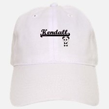 Kendall Classic Retro Name Design with Panda Baseball Baseball Cap