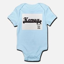 Kenya Classic Retro Name Design with Pan Body Suit