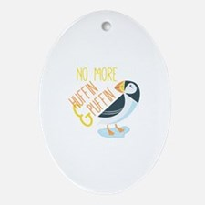 Huffin Puffin Ornament (Oval)
