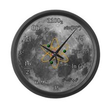 Sheldon Cooper Maths Moon Clock Large Wall Clock