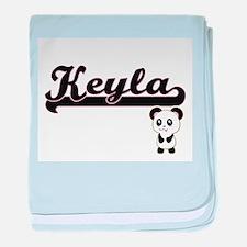 Keyla Classic Retro Name Design with baby blanket