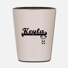 Keyla Classic Retro Name Design with Pa Shot Glass