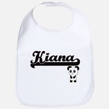 Kiana Classic Retro Name Design with Panda Bib