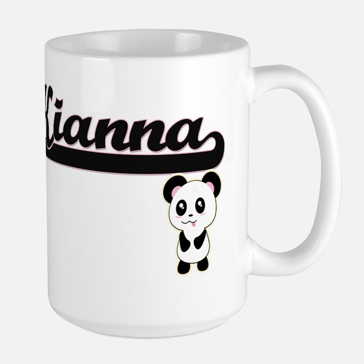 Kianna Classic Retro Name Design with Panda Mugs