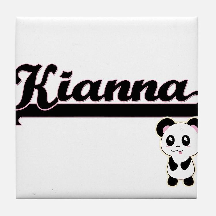 Kianna Classic Retro Name Design with Tile Coaster