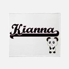 Kianna Classic Retro Name Design wit Throw Blanket