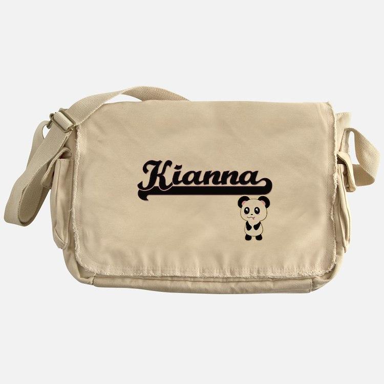 Kianna Classic Retro Name Design wit Messenger Bag