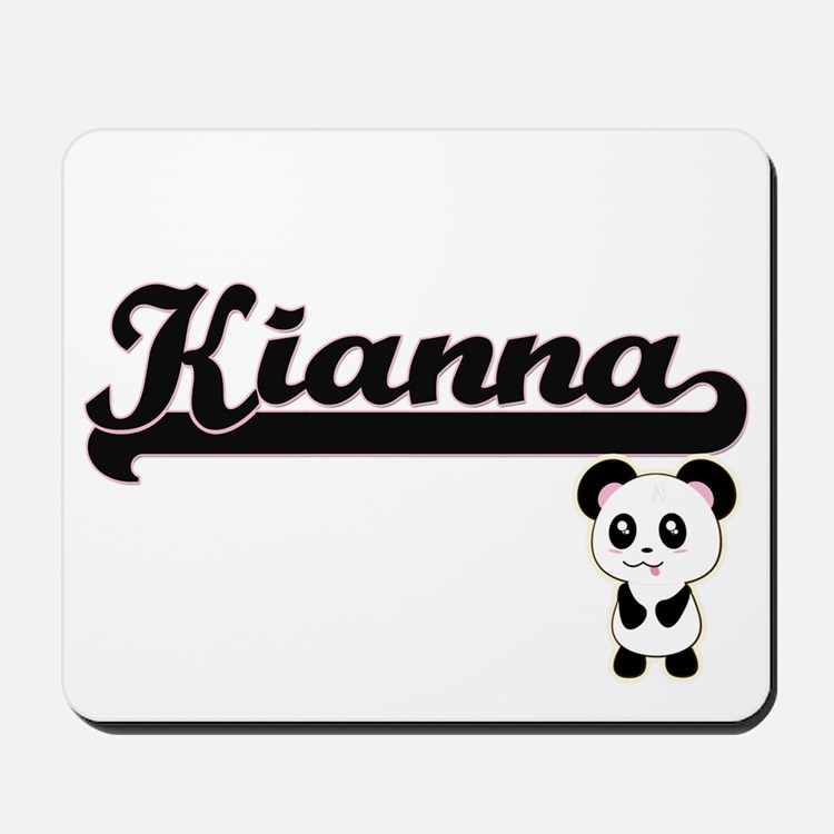 Kianna Classic Retro Name Design with Pa Mousepad