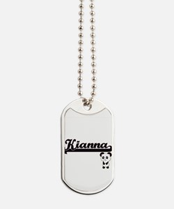 Kianna Classic Retro Name Design with Pan Dog Tags