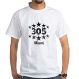 305 miami Mens White T-shirts