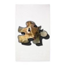 chipmunk puzzle piece Area Rug