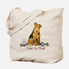 Welsh Terrier Playtime! Tote Bag