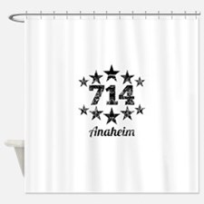 Vintage 714 Anaheim Shower Curtain