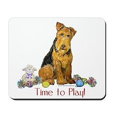 Welsh Terrier Playtime! Mousepad