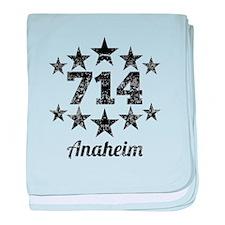 Vintage 714 Anaheim baby blanket