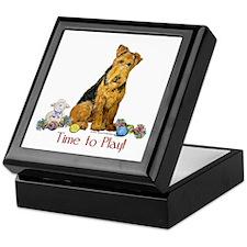 Welsh Terrier Playtime! Keepsake Box
