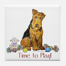 Welsh Terrier Playtime! Tile Coaster