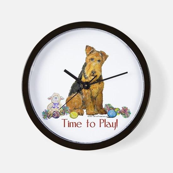 Welsh Terrier Playtime! Wall Clock