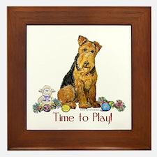 Welsh Terrier Playtime! Framed Tile