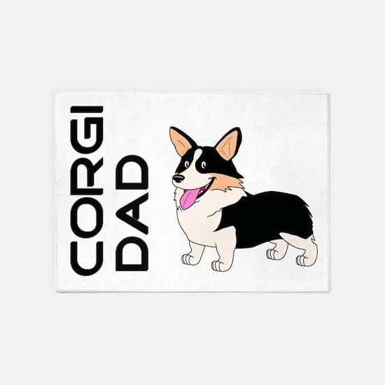 Corgi Dad 5'x7'Area Rug