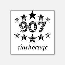 Vintage 907 Anchorage Sticker