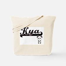 Kya Classic Retro Name Design with Panda Tote Bag
