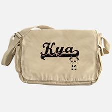 Kya Classic Retro Name Design with P Messenger Bag