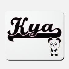 Kya Classic Retro Name Design with Panda Mousepad