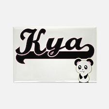 Kya Classic Retro Name Design with Panda Magnets