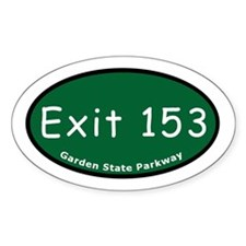 Exit 153 - NJ 3 - New York C Oval Decal