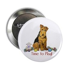Welsh Terrier Playtime! Button
