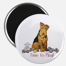 Welsh Terrier Playtime! Magnet