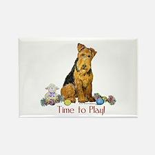Welsh Terrier Playtime! Rectangle Magnet (10 pack)