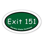 Exit 151 - Watchung Avenue - Oval Sticker