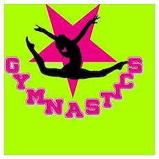 Pink and Green gymnastics Poster