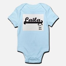 Laila Classic Retro Name Design with Pan Body Suit
