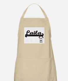 Laila Classic Retro Name Design with Panda Apron